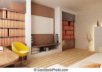 interior, render, 3d