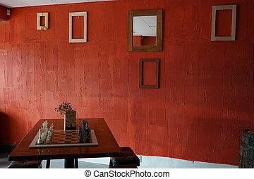 Interior room red