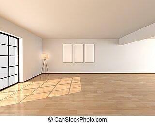 interior, sala, arquitectura