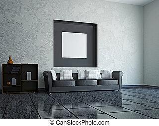interior, sala