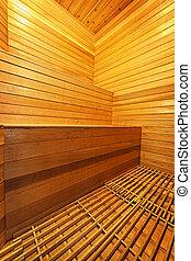 interior, sauna