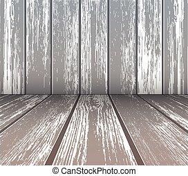 wooden wall and floor