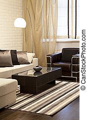 living room  - Interior shot of a modern living room