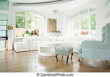 interior, sillón, diseñador, lujo