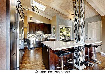 interior, sitio moderno, cocina