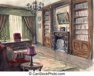 Interior sketch of the cabinet - The interior sketch of the...