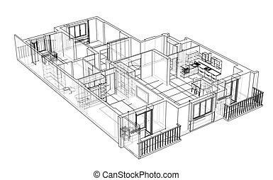 Interior sketch. Vector