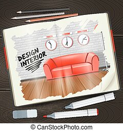 Interior Sketchbook Illustration