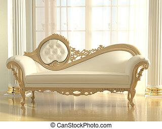 interior, sofá, apartamento, moderno, lujoso