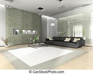 interior, sofá, branca, modernos, tapete