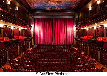 interior, teatro