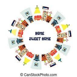 interior, texto, marco, tarjeta, hogar