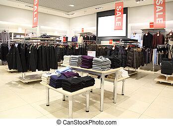 interior, tienda, ropa