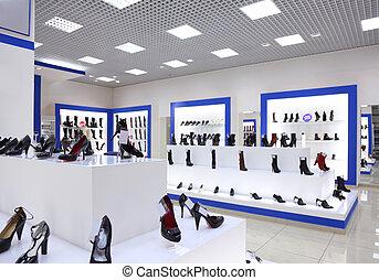 interior, tienda, zapato