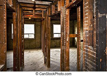 interior til hjem, gutted, by, renovation