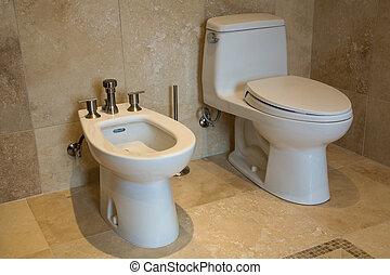 interior toilet.