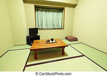 interior, tradicional, japonés, hogar