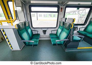 interior, tren