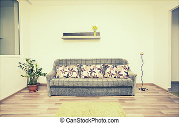interior, vida, cómodo, habitación