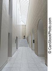 interior, vidrio, claraboya, pasaje