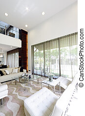 Interior view of a modern living room