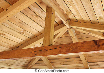 roof structure - Interior view of a wooden roof structure