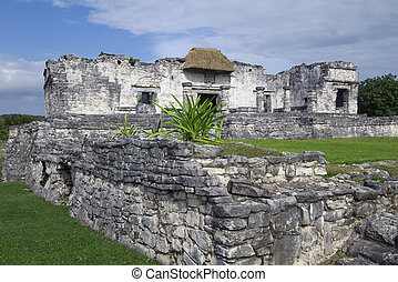 Interior View of Palace Ruins at Tulum