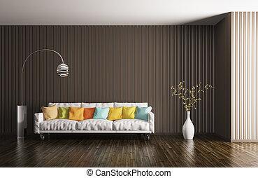 interior, vivendo, 3d, sala, fazendo