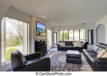 interior, vivendo, quarto moderno