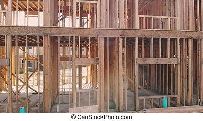 Interior wall framing renovation new home construction