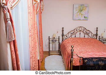 interior with bed