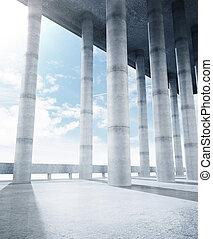 concrete collumn hall