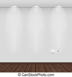 interior with empty wall and parquet. vector illustration. ...