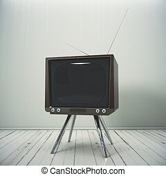 Interior with obsolete TV