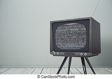 Interior with retro TV