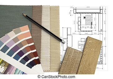 interior, worktable, desenho