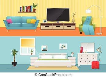 Interiors Flat Compositions