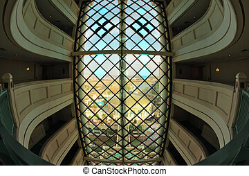 Interiors of floors in hotel