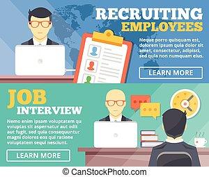 interjú, munka újonc, dolgozók