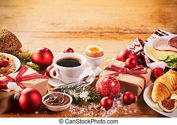 interkontinental, frukost, breda, jul