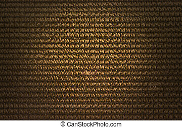 Interlace style pattern for abstract golden colour background