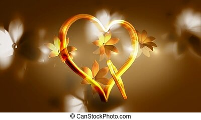 Interlocked gold hearts