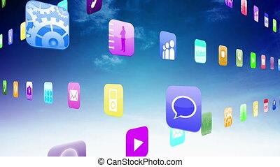 Interlocking application icons - Interlocking computing...