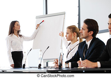 interlocuteurs, réunion,  Business