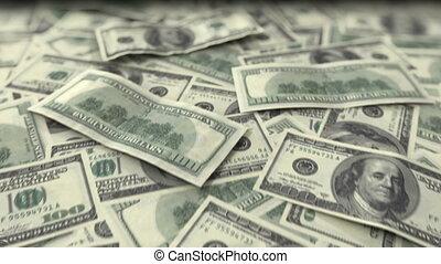 interminable, dollars, animation, fait boucle