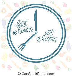 Intermittent Fasting lettering vector illustration - ...