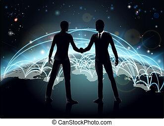 internacional, concepto, empresa / negocio