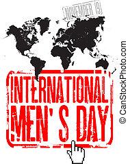 internacional, dia, mens