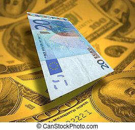 internacional, dinheiro, conceito