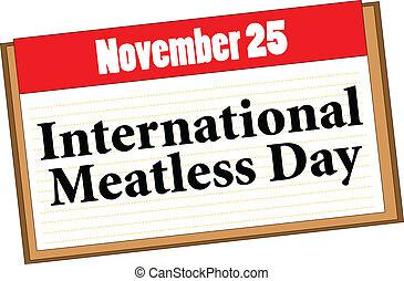 internacional, meatless, dia